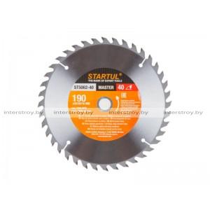 Диск пильный 190х30/20/16 мм 40 зуб. по дереву STARTUL -5293577506227