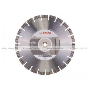 Алмазный круг 350х20/25.4 мм по бетону сегмент. Turbo BEST FOR CONCRETE BOSCH -3165140381646
