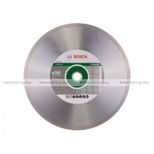 Алмазный круг 350х25.4/30 мм по керамике сплошн. BEST FOR CERAMIC BOSCH -3165140581462