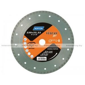 Алмазный круг 180х22.2 мм бетон/трот.плитка Turbo VULCAN JET NORTON -5900442045896