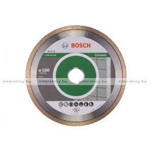 Алмазный круг 180х25.4 мм по керамике сплошн. STANDARD FOR CERAMIC BOSCH -3165140576406