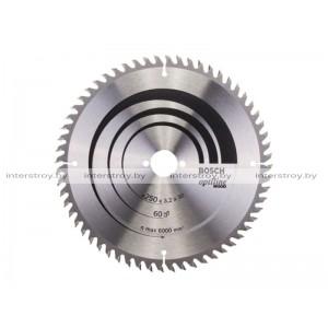 Диск пильный 250х30 мм 60 зуб. по дереву OPTILINE WOOD BOSCH -3165140194532