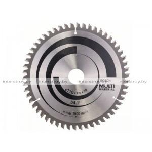 Диск пильный 210х30 мм 54 зуб. универсальный MULTIMATERIAL BOSCH -3165140193016