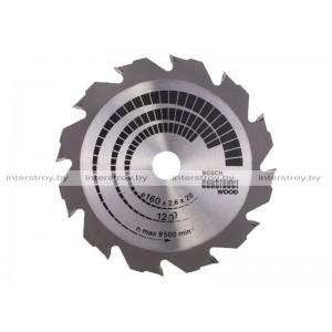 Диск пильный 160х20/16 мм 12 зуб. по дереву CONSTRUCT WOOD BOSCH -3165140194235