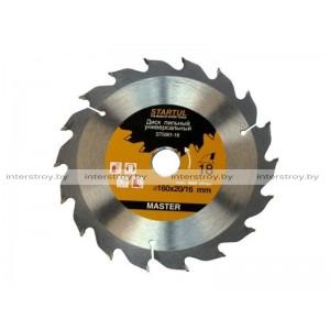 Диск пильный 160х20/16 мм 24 зуб. по дереву STARTUL -5293577506128