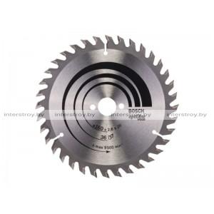 Диск пильный 160х16 мм 36 зуб. по дереву OPTILINE WOOD BOSCH -3165140193917