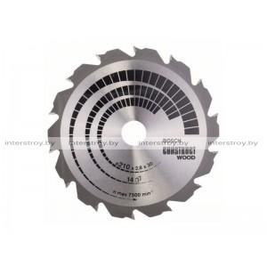 Диск пильный 210х30 мм 14 зуб. по дереву CONSTRUCT WOOD BOSCH -3165140194273