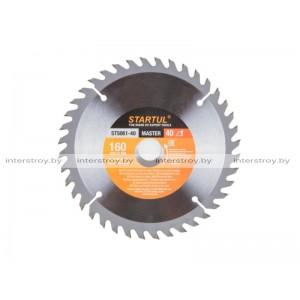 Диск пильный 160х20/16 мм 40 зуб. по дереву STARTUL -5293577506135