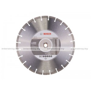 Алмазный круг 350х20/25.4 мм по бетону сегмент. STANDARD FOR CONCRETE BOSCH -3165140576482