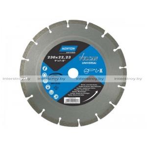 Алмазный круг 230х22.2 мм универс. сегмент. VULCAN UNI NORTON -5900442045827
