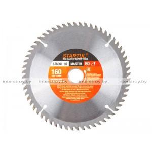 Диск пильный 160х20/16 мм 60 зуб. по дереву STARTUL -5293577506142