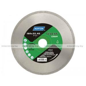Алмазный круг 125х22.2 мм по керамике сплошн. VULCAN TILE NORTON -5900442045841