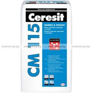 Клей для мраморной плитки и мозаики Ceresit CM 115 белая 25 кг