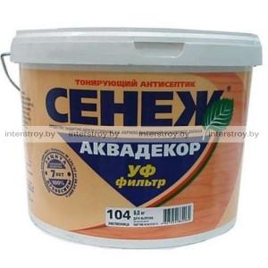 Антисептик Сенеж Аквадекор Х2-107 9 кг Каштан