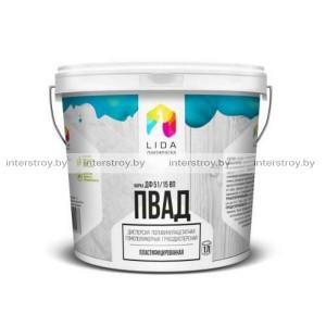 Клей дисперсия Lida ПВАД ДФ 51/15 ВП 1 кг натуральный белый