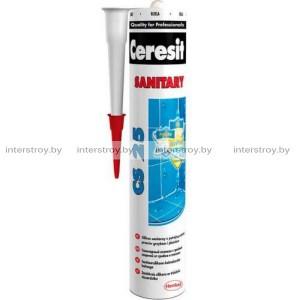 Герметик силиконовый Ceresit CS25 санитарный №01 280мл белый