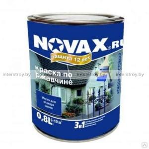 Грунт-эмаль Новакс RAL 7016 3в1 матовый 0.8 л Темно-серый