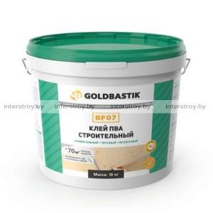 Клей Goldbastik BF 07 ПВА строительный 10 кг прозрачный