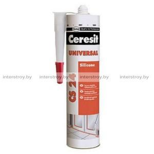 Герметик силиконовый Ceresit CS24 универсальный 280 мл белый