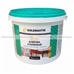 Клей Goldbastik BF 08 ПВА столярный 1 кг прозрачный