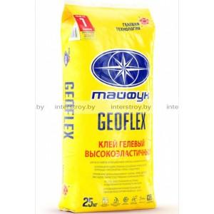 Клей для плитки Тайфун Geoflex гелевый высокоэластичный 25 кг