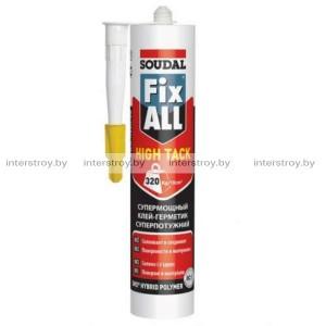 Клей-герметик Soudal Fix All High Tack гибридный 290 мл белый